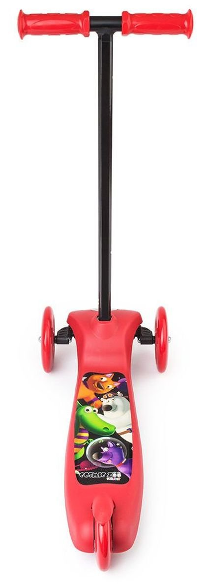 Detskiy Trehkolesniy Samokat Small Rider Cosmic Zoo Scooter Red6