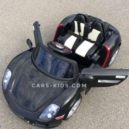 Электромобиль Porsche 918 Spyder (глянцевая покраска, резиновые колеса, кожаное кресло, пульт, музыка)